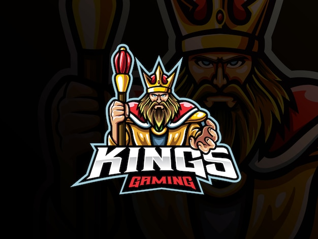 The king mascot sport logo design