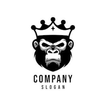 King monkey vector logo design