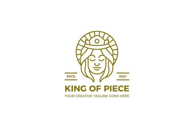 평화의 왕 자유 monoline 로고 템플릿