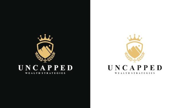 山の王のロゴデザイン