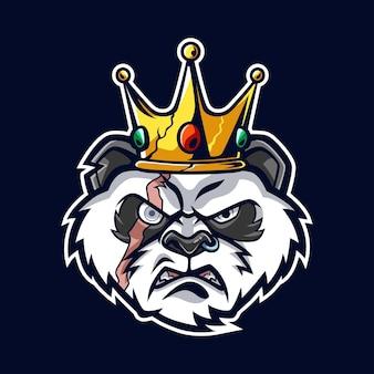 킹 팬더 머리 만화 illustrationn