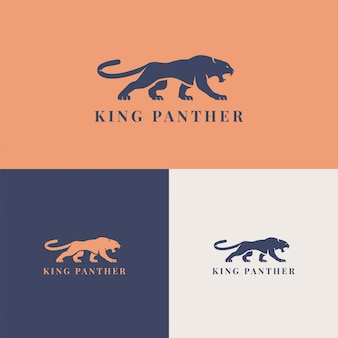 King panther logo template brand company