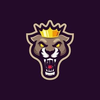 King panther mascot logo design