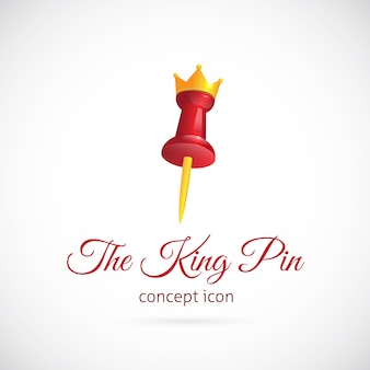 King pin abstract symbol icon