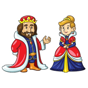 King queen cute cartoon