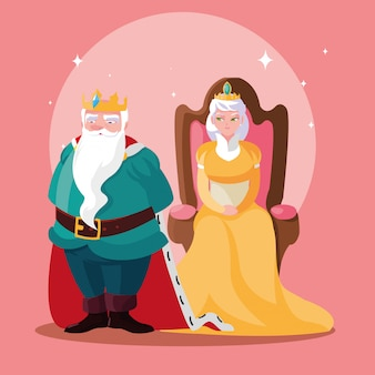 King and queen fairytale magical avatar character