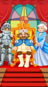 King and queen at the throne