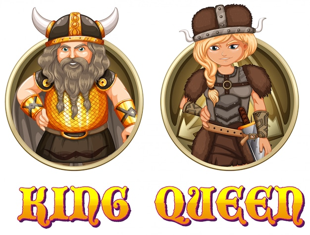 King and queen of vikings