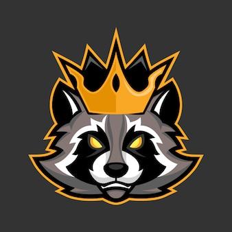 King raccoon mascot