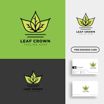 King or royal agriculture logo template vector illustration