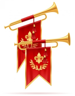 King royal golden horn trumpet.