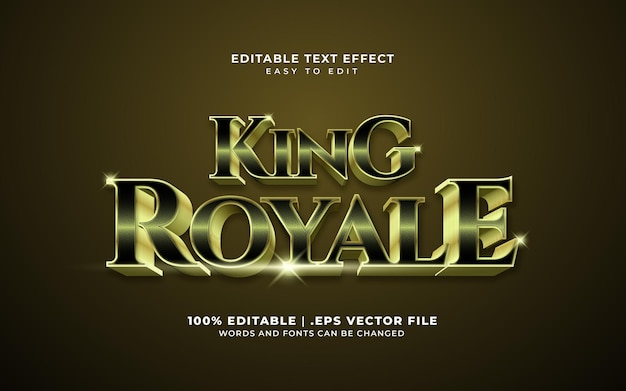 King royale text effect