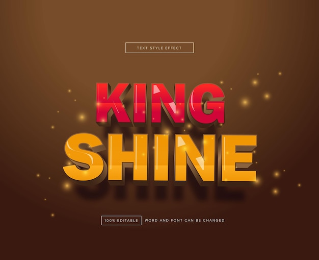 King shine 텍스트 효과 편집 가능