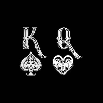 King spades and queen heart sign