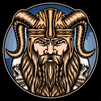 King viking illustration.