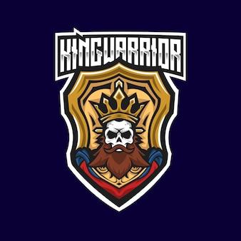 Шаблон логотипа king warrior esport