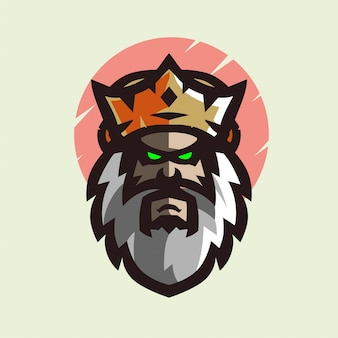 King with crown mascot logo