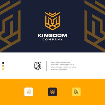Kingdom lion design logo simple monogram style