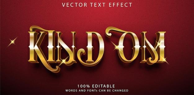 Шаблон стиля текстовых эффектов королевства