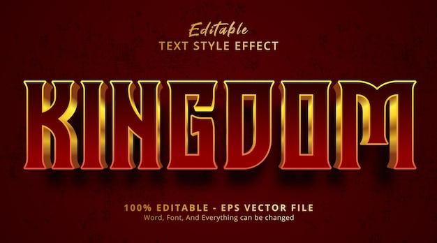 豪華な赤いグラデーションスタイルの効果、編集可能なテキスト効果の王国のテキスト