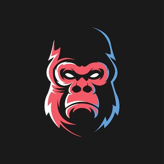 Kingkong face logo vector
