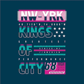 Kings of city graphic typography design for ready print t shirt