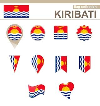 Kiribati flag collection, 12 versions