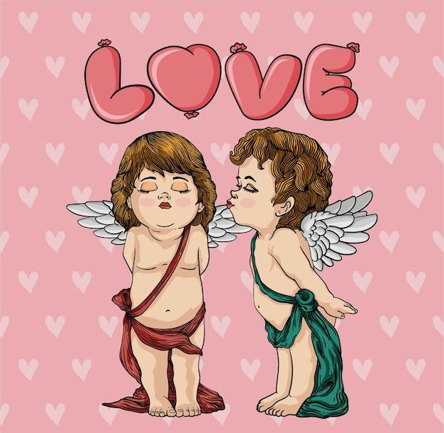 キューピッドにキス、幸せなバレンタインデー