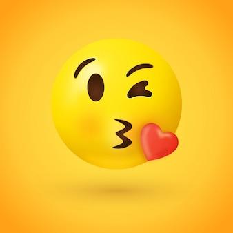 Kissing face emoji