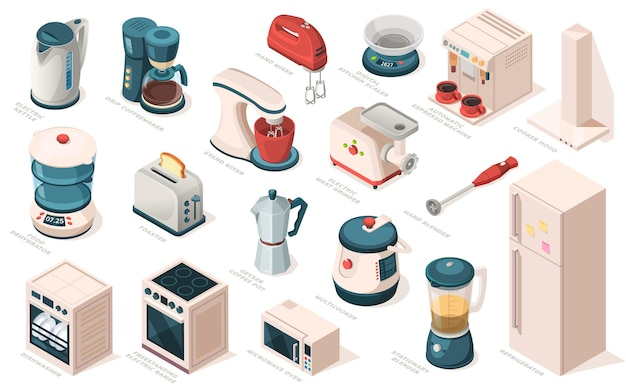 Kitchen appliance set equipment item for cooking