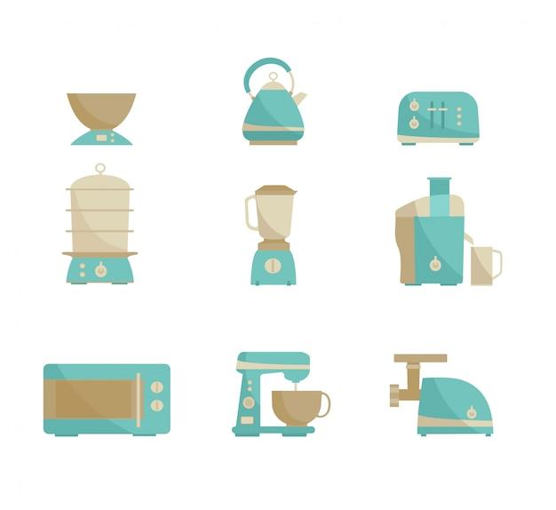 Kitchen appliances collection.