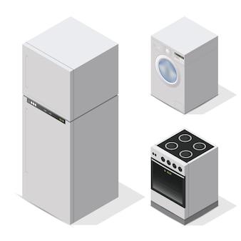 キッチン家電セット。家庭用機器
