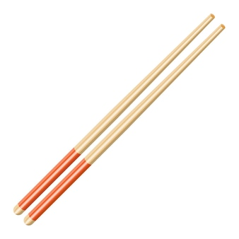Kitchen asian chopsticks icon. bamboo wooden sticks for food. vector illustration in flat style