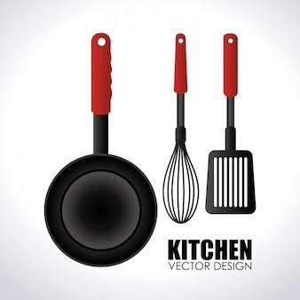Kitchen design gray illustration