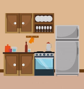 Kitchen and dishware