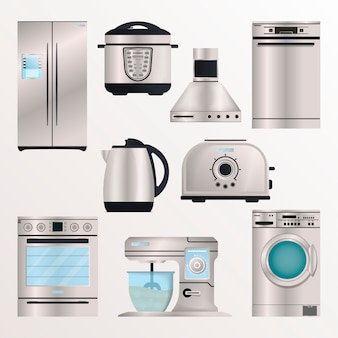 Kitchen electronic appliances isolate set