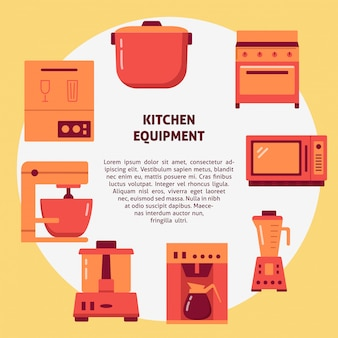 Kitchen equipment home appliances