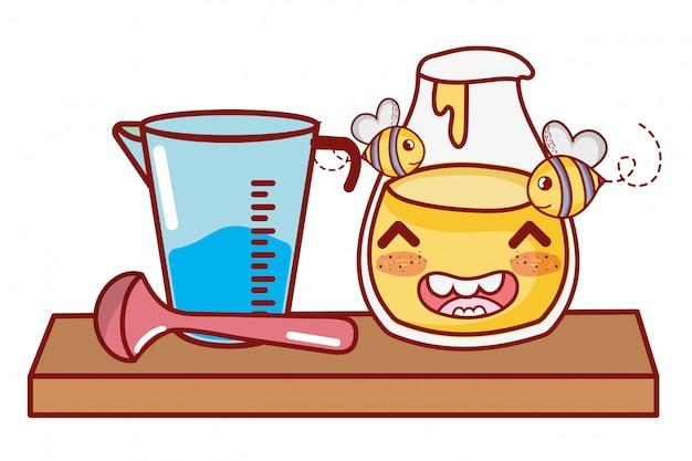Kitchen and food kawaii cartoons