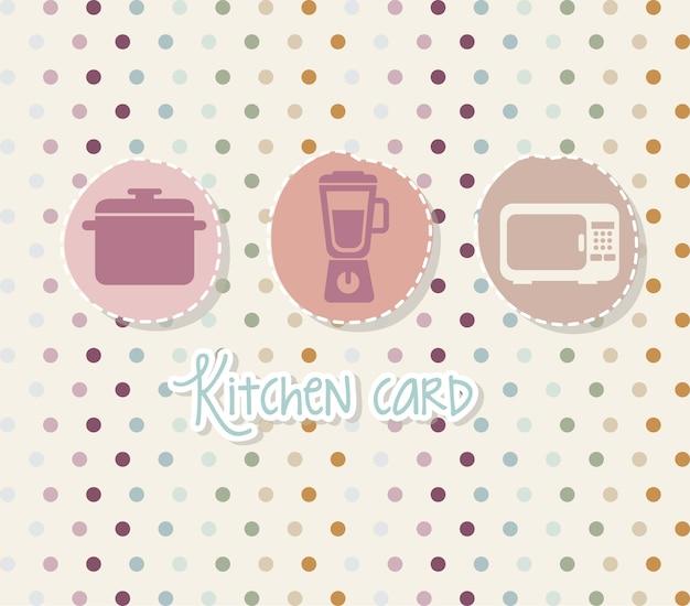 Kitchen icons over beige background vector illustration