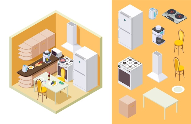 Kitchen isometric