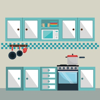 Kitchen modern scene elements