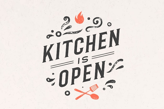 Kitchen open. wall decor, poster, sign, quote. poster for kitchen