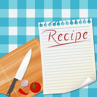 Дизайн дизайна рецептов кухни