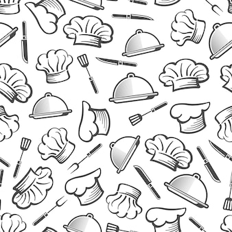 キッチンシームレスの背景パターン