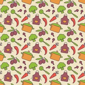 Kitchen seamless pattern. vector