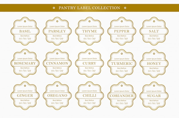 Органайзер для кухонной приправы в коллекции золотого цвета