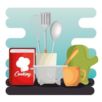 Набор кухонных принадлежностей иконки