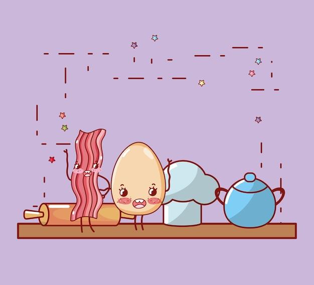 キッチン棚漫画かわいい漫画