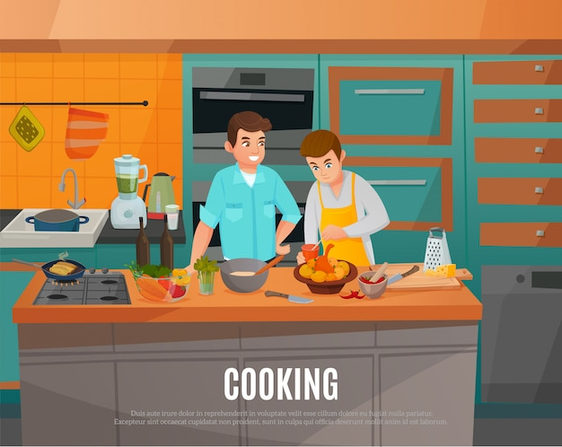 Kitchen show illustration