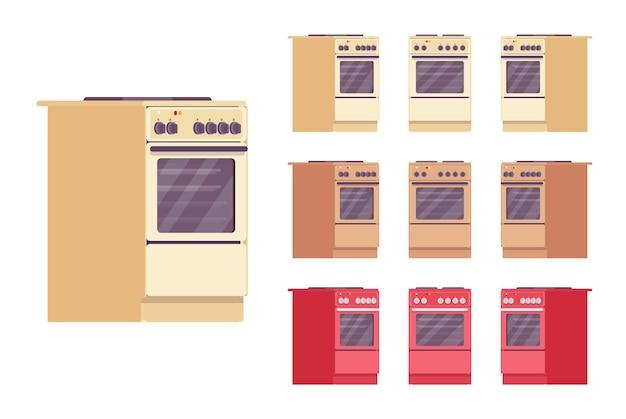 Kitchen stove set